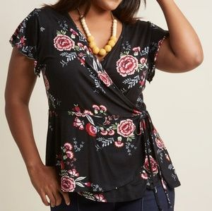 Coming Soon - Floral Surplice Wrap Top